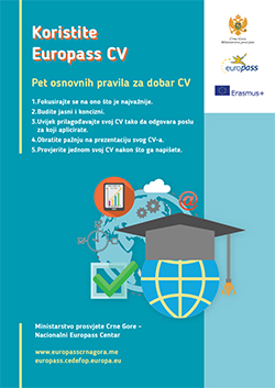 Poster on Europass CV
